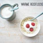 Warmer Reisbrei zum Frühstück und für die Box
