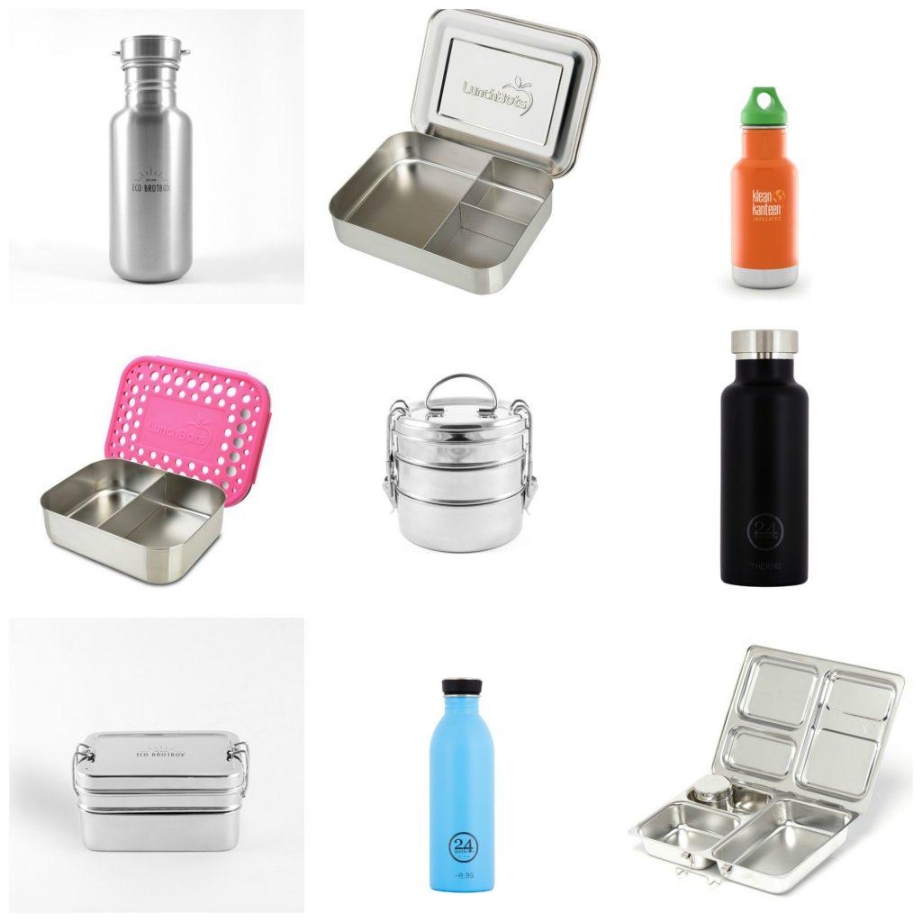 Edelstahlflaschen, Sustainable, Nachhaltigkeit, nachhaltig, Edelstahlboxen, weniger Plastik, Bentobox, Brotdose, Snackbox